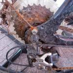 Überall Rost, Dreck und Schlamm am Fahrrad