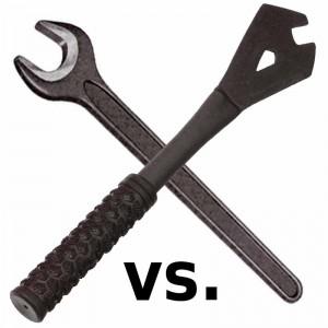 Pedalschlüssel vs. Gabelschlüssel